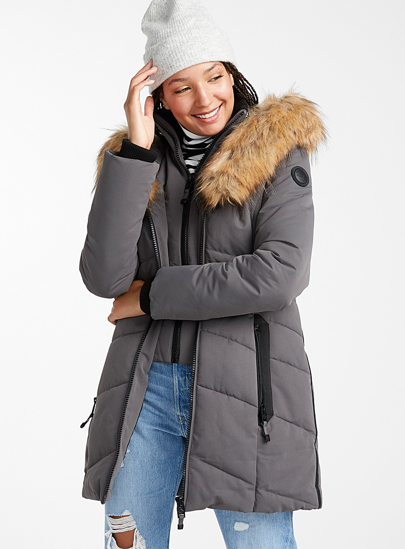 Nadia quilted parka - Anoraks and Parkas - Grey