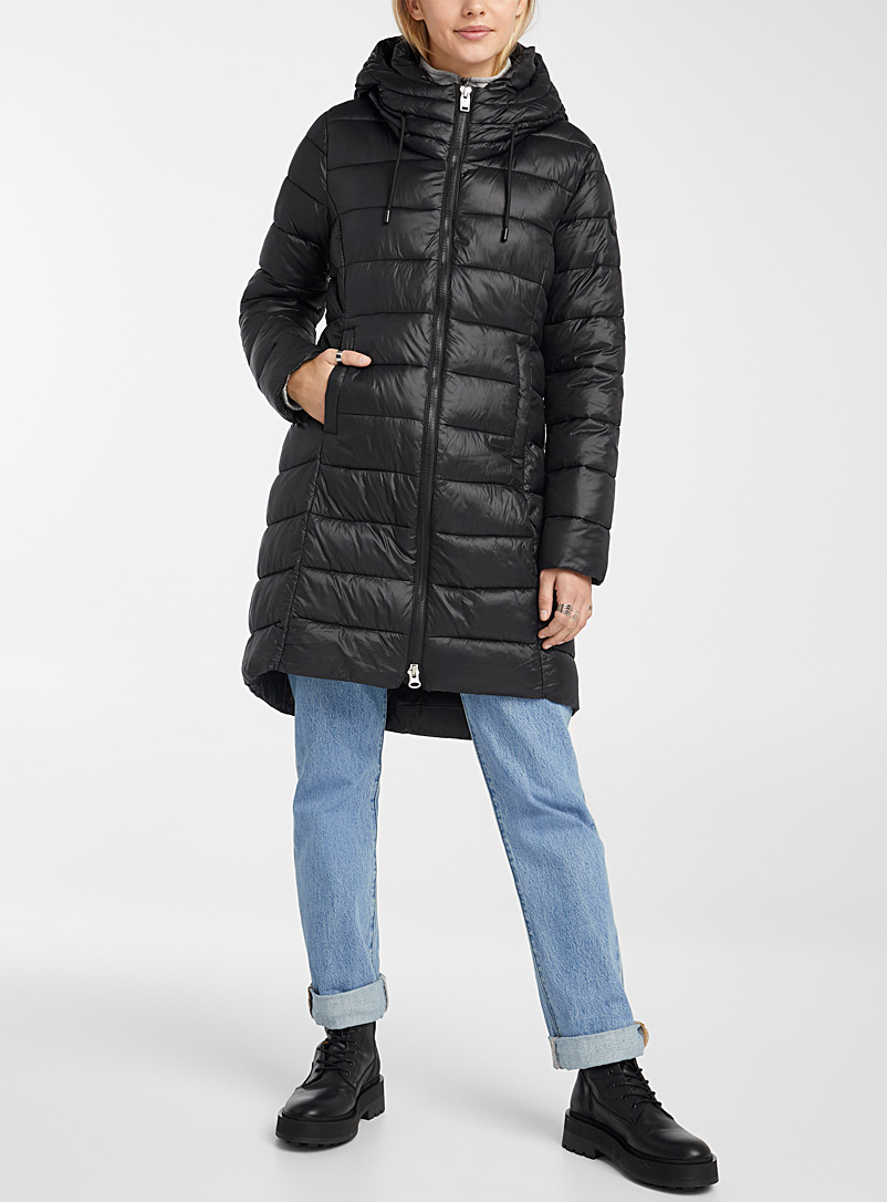 Point Zero Black Claudia 3/4 puffer jacket for women