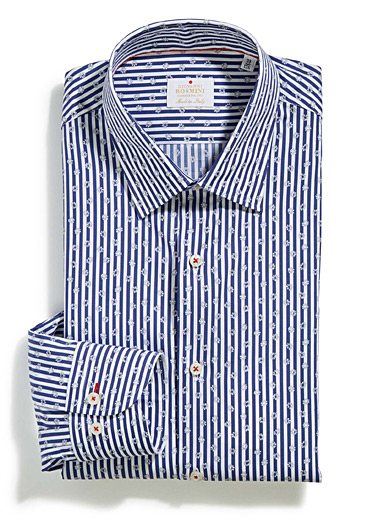 Striped daisy shirt <br>Semi-tailored fit