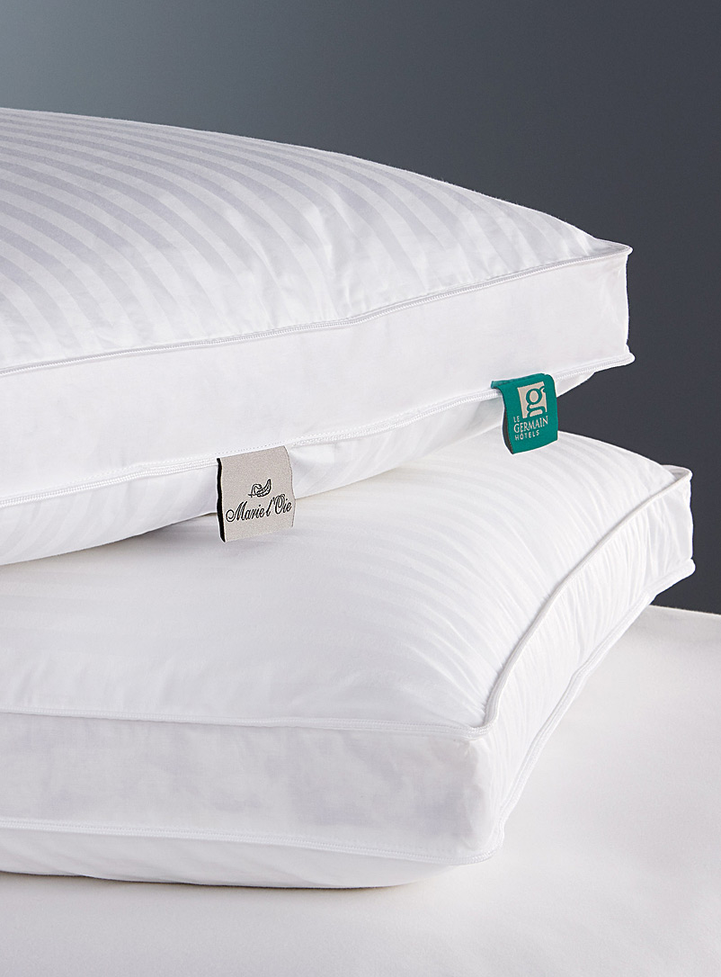 Germain down and feather pillow  Duveteuse line - Pillows & Pillow covers - White