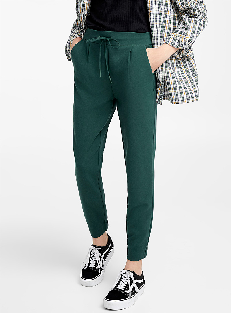 Twik Kelly Green Minimalist joggers for women