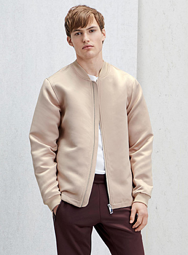 Polished structured bomber jacket