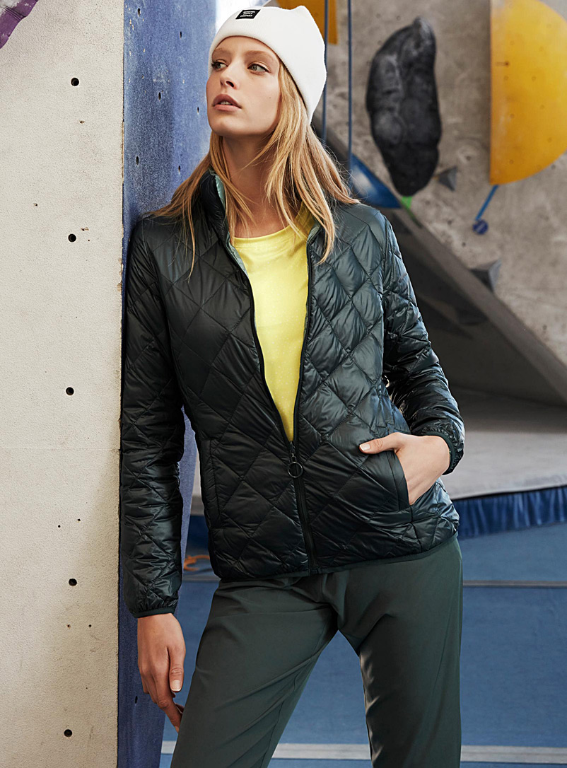 Reversible quilted jacket - Outdoor - Mossy Green