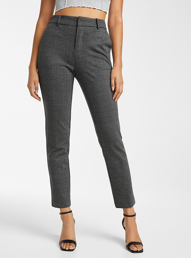 Icône Grey Engineered jersey straight pant for women