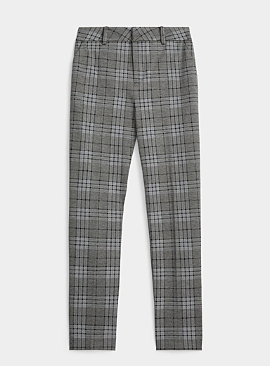 Icône Patterned Blue Micro-print dress pant for women