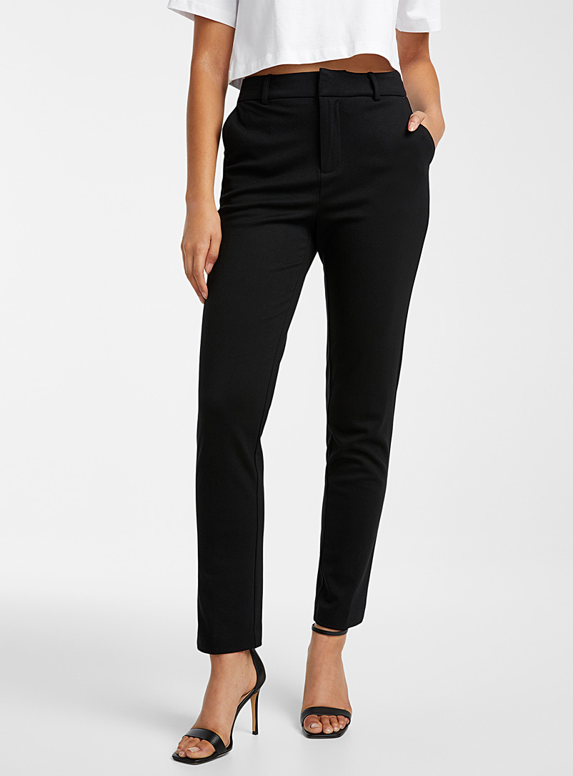 Icône Patterned Brown Engineered jersey straight pant for women