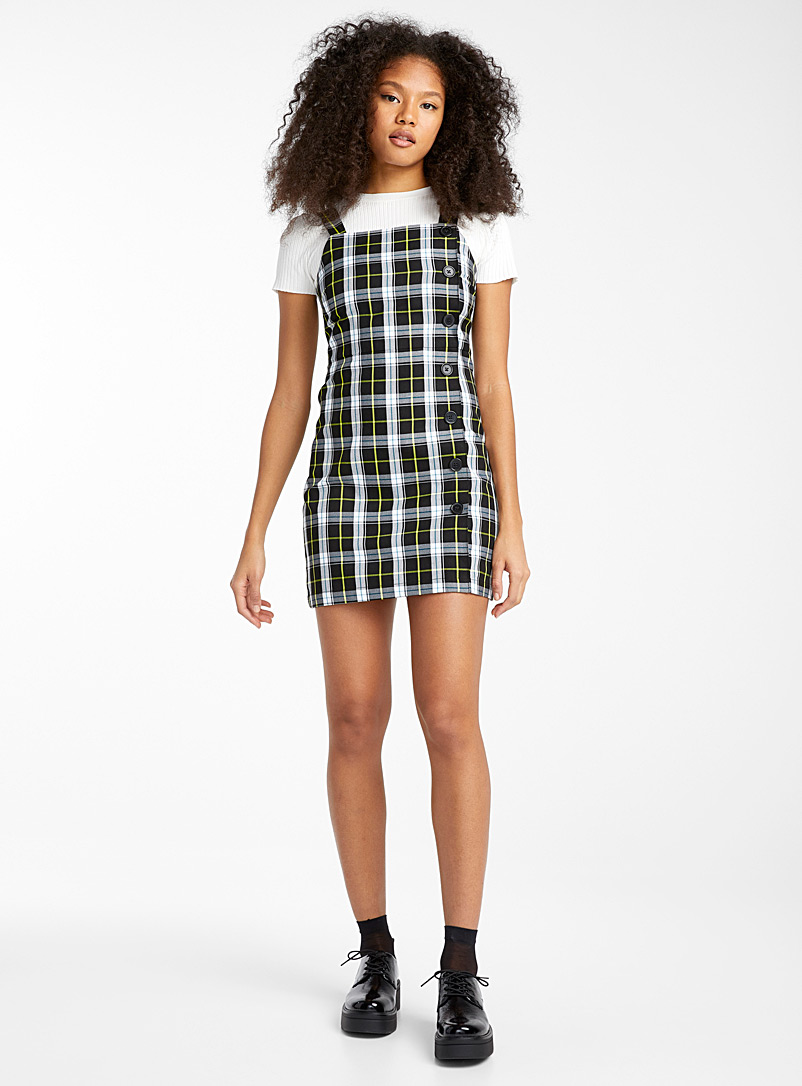 plaid-buttoned-dress