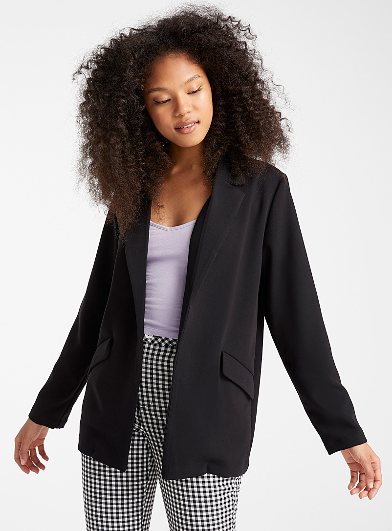 Twik Black Loose minimalist blazer for women