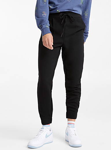 Twik Black Minimalist joggers for women