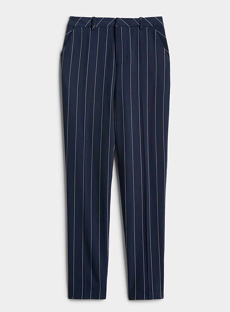 Twik Patterned Blue Basic high-rise pant for women