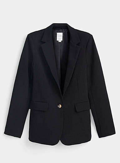 Loose single-button blazer