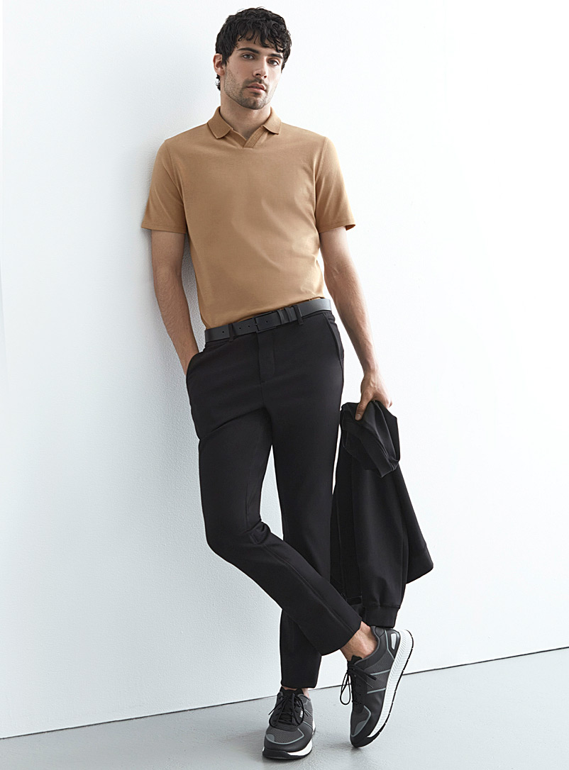 Le 31 Black Techno twill chinos Stockholm fit-Slim for men