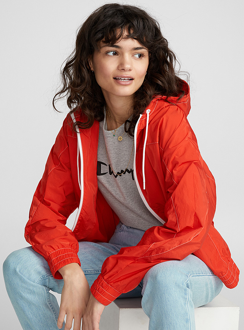 Crinkled nylon jacket - Jackets and Vests - Red