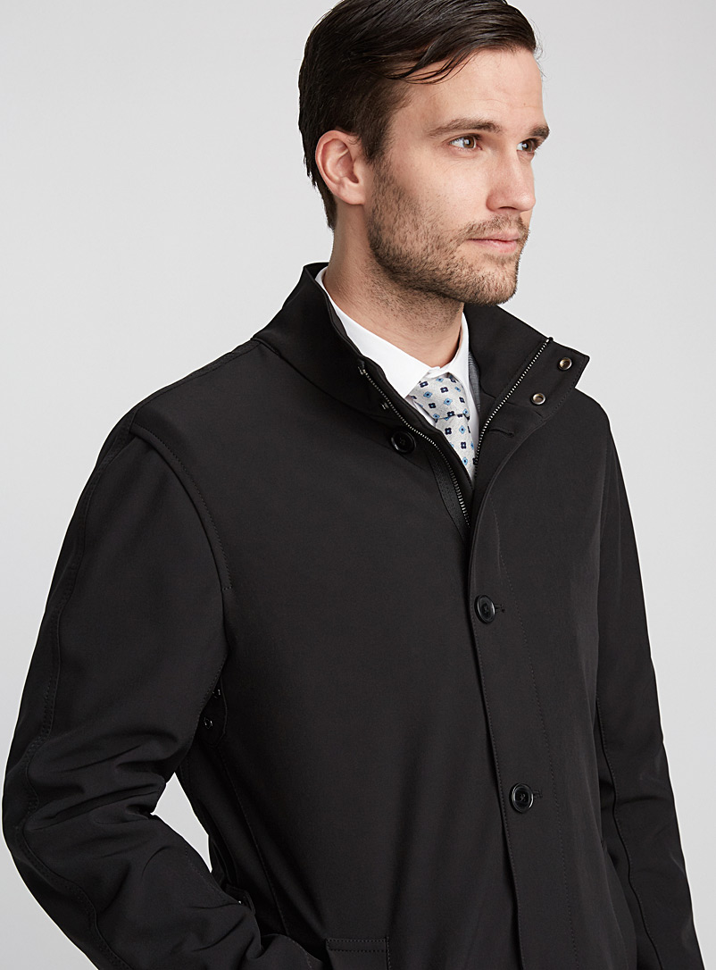 Le 31 Black Urban shell trench for men