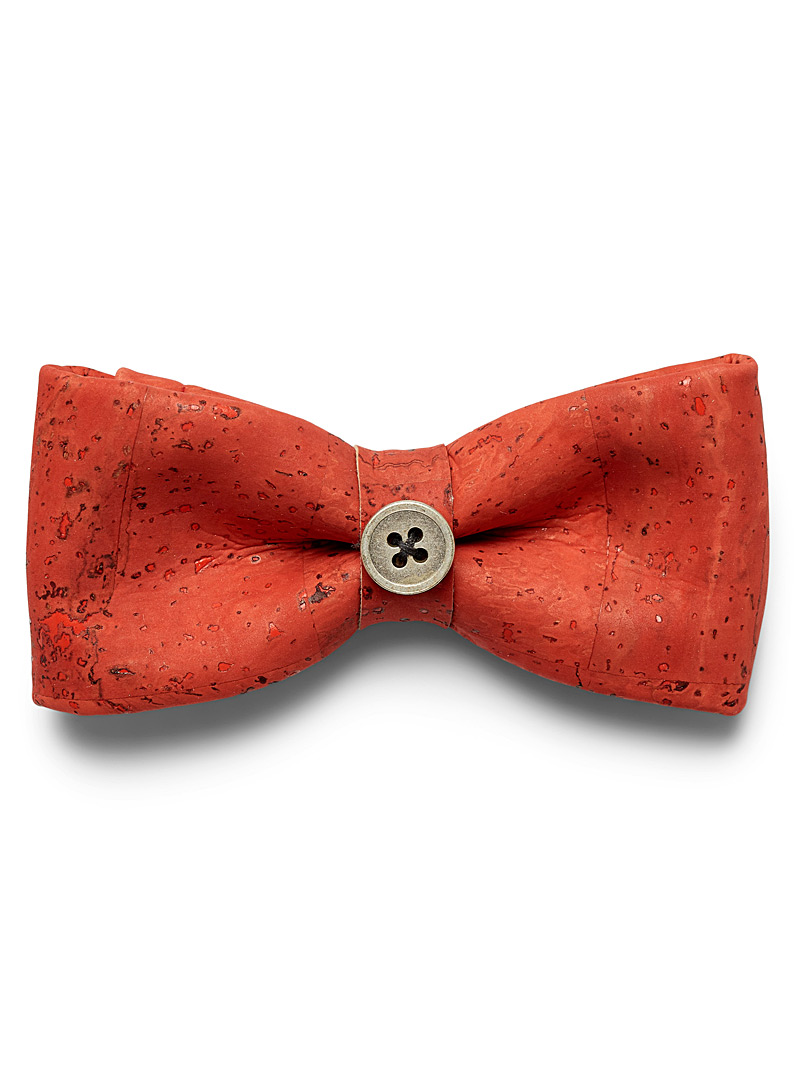 Prosac Red Cork bow tie for men