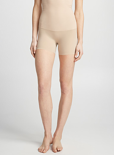 Spanx Tan High-waist shaping short for women