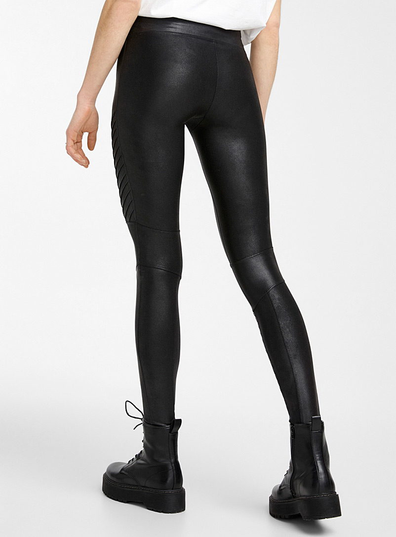Spanx Black Structured faux-leather legging for women