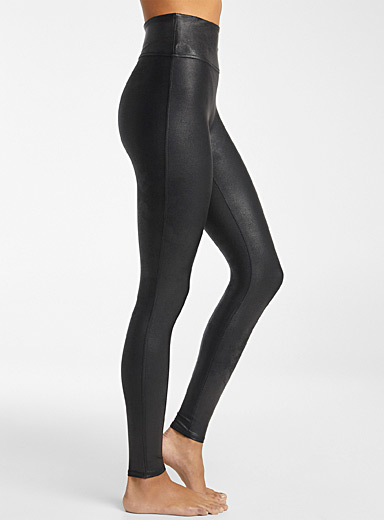 Spanx Black Faux-leather black legging for women