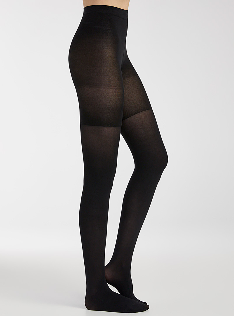 Opaque body-shaping tights