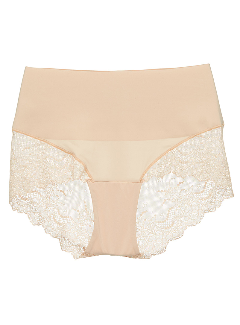 Undie-tectable lace support bikini panty