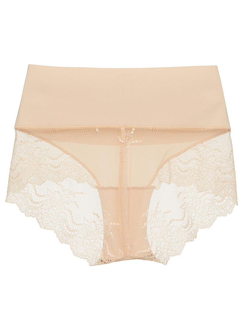 Spanx Tan Undie-tectable lace support bikini panty for women