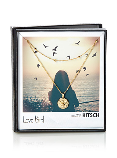 Les colliers Love Bird <br>Ensemble de 2