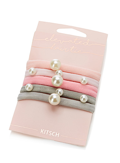 Pearly rolled elastics  Set of 5