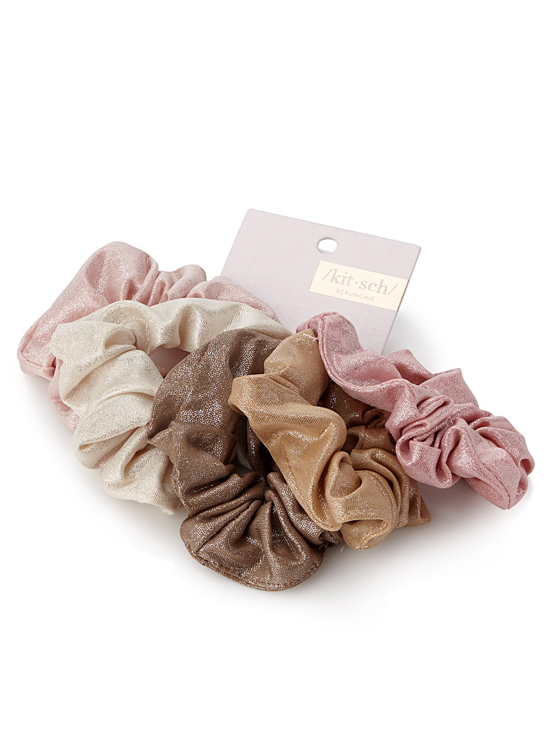 shiny-scrunchies-br-set-of-5