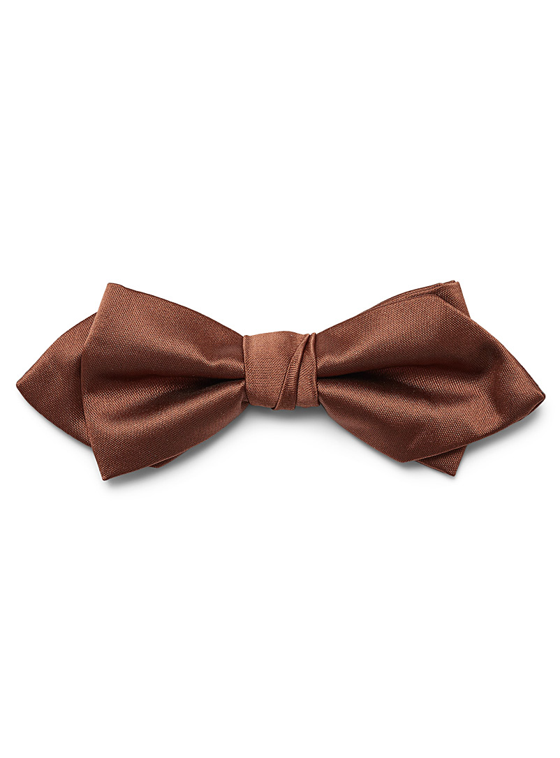 Le 31 Copper Satiny colour bow tie for men