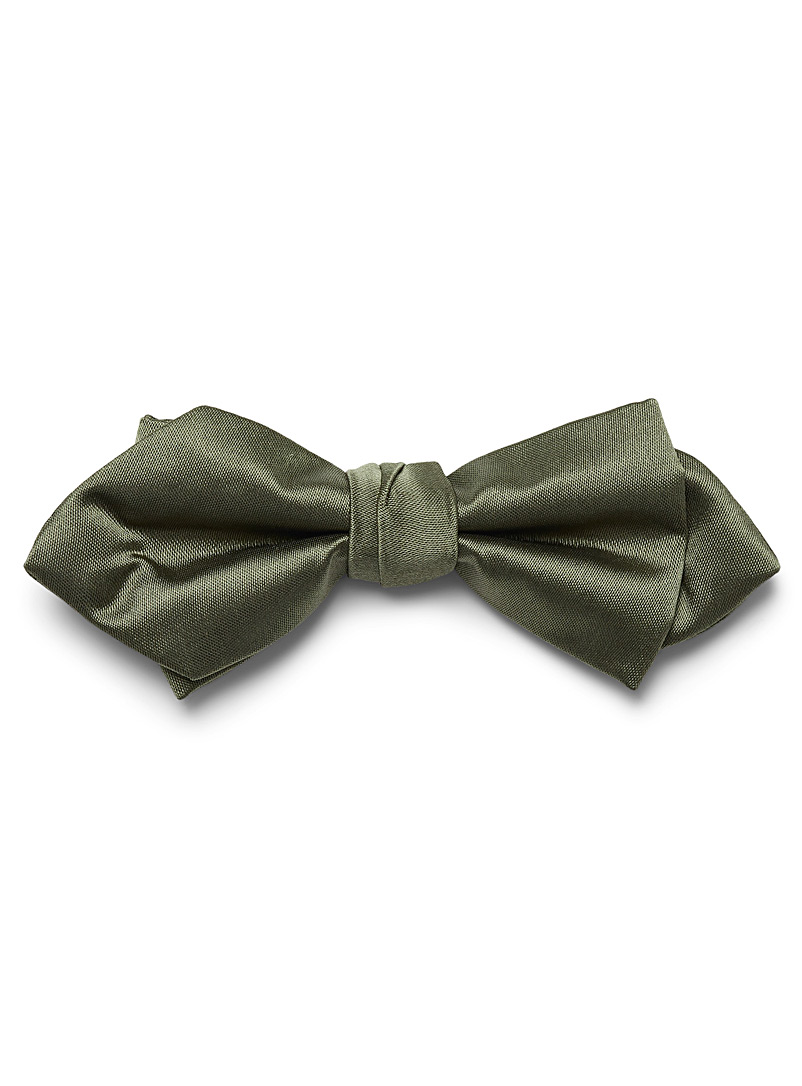 Satiny colour bow tie - Bow Ties - Mossy Green