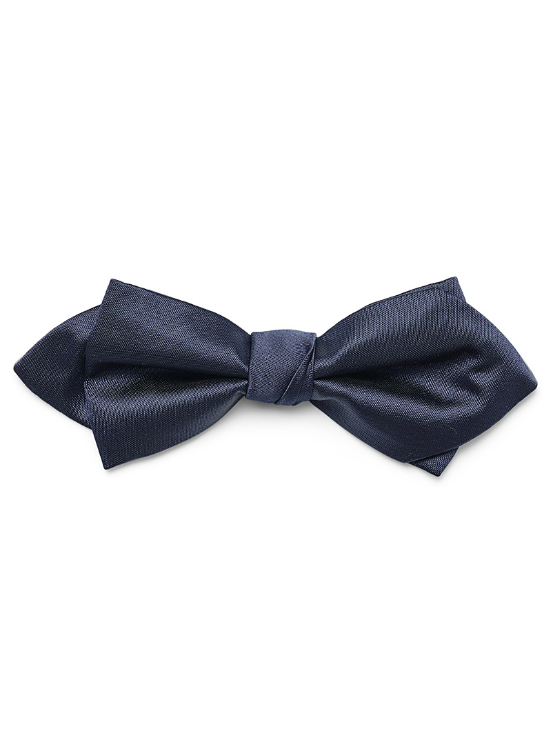 Le 31 Marine Blue Satiny colour bow tie for men