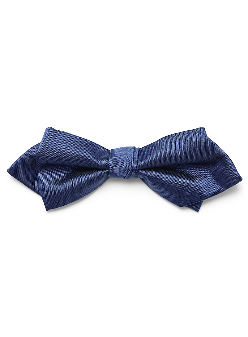 Satiny colour bow tie - Bow Ties - Blue