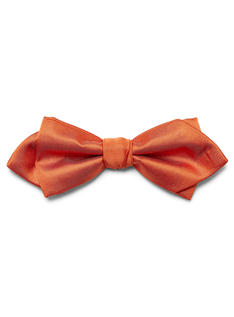 Le 31 Orange Satiny colour bow tie for men