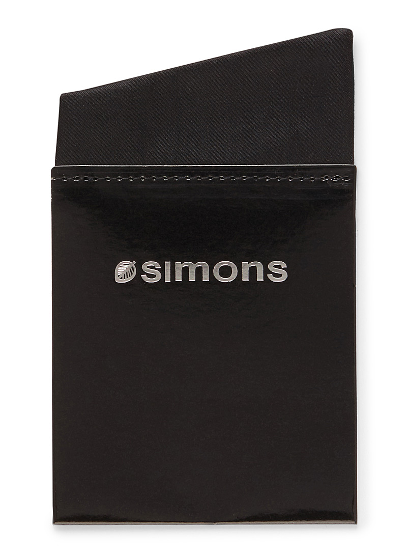 Simons Black Illusion pocket square for men