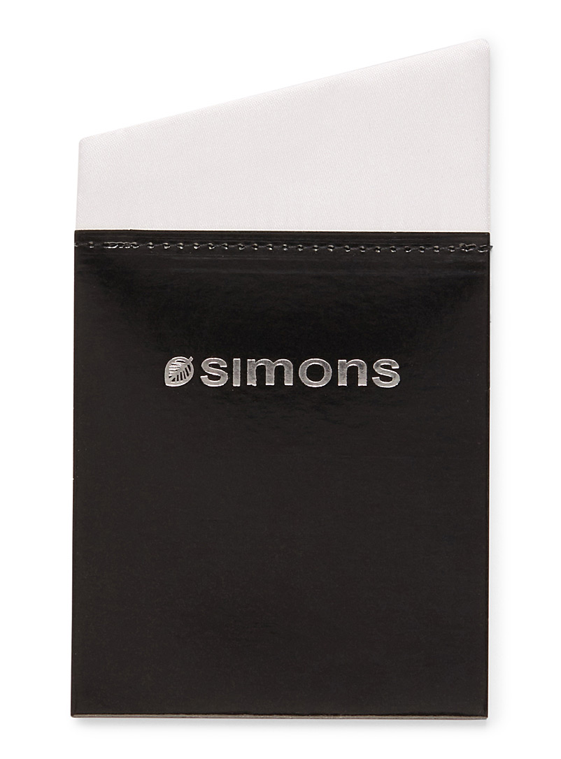 Simons Marine Blue Illusion pocket square for men