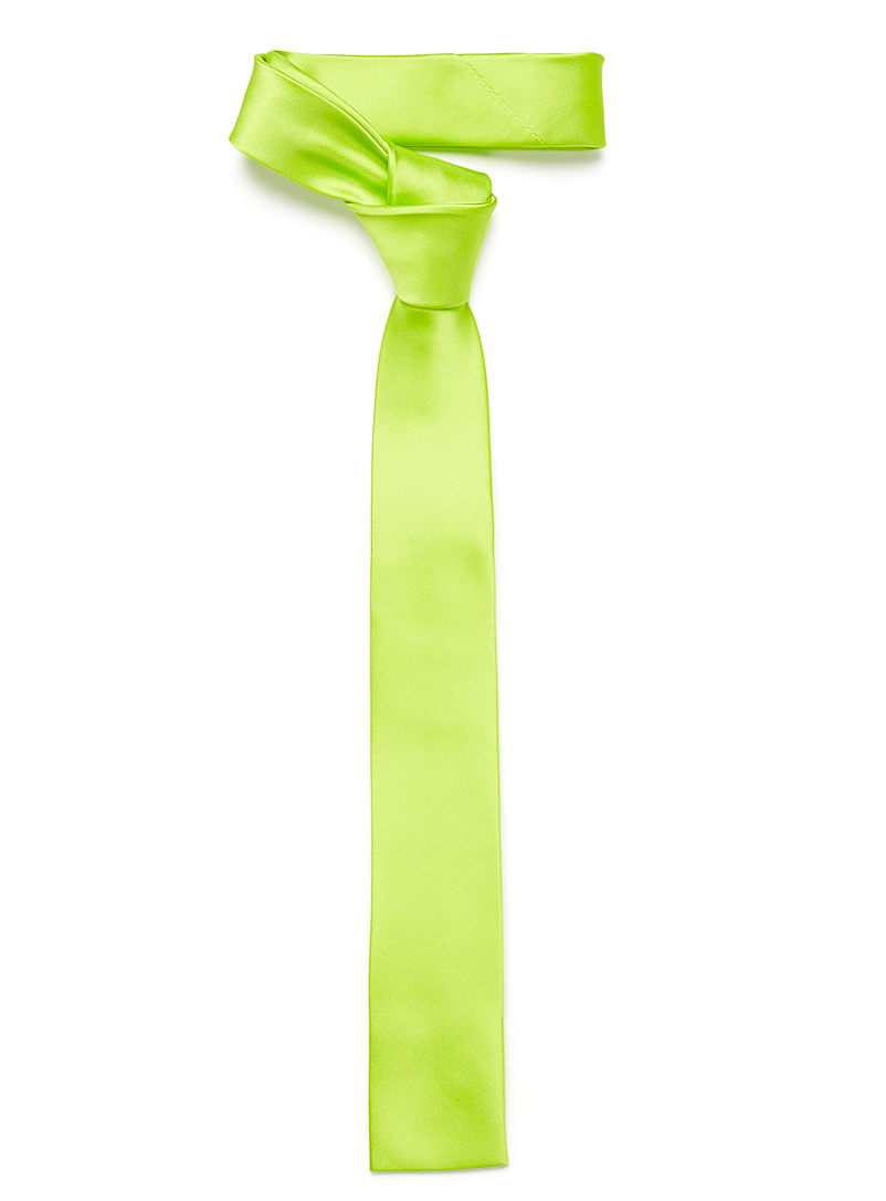 Satiny colour tie - Skinny Ties - Green