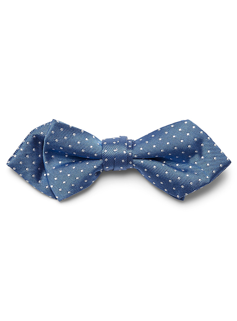 Satiny pin dot bow tie - Bow Ties - Blue