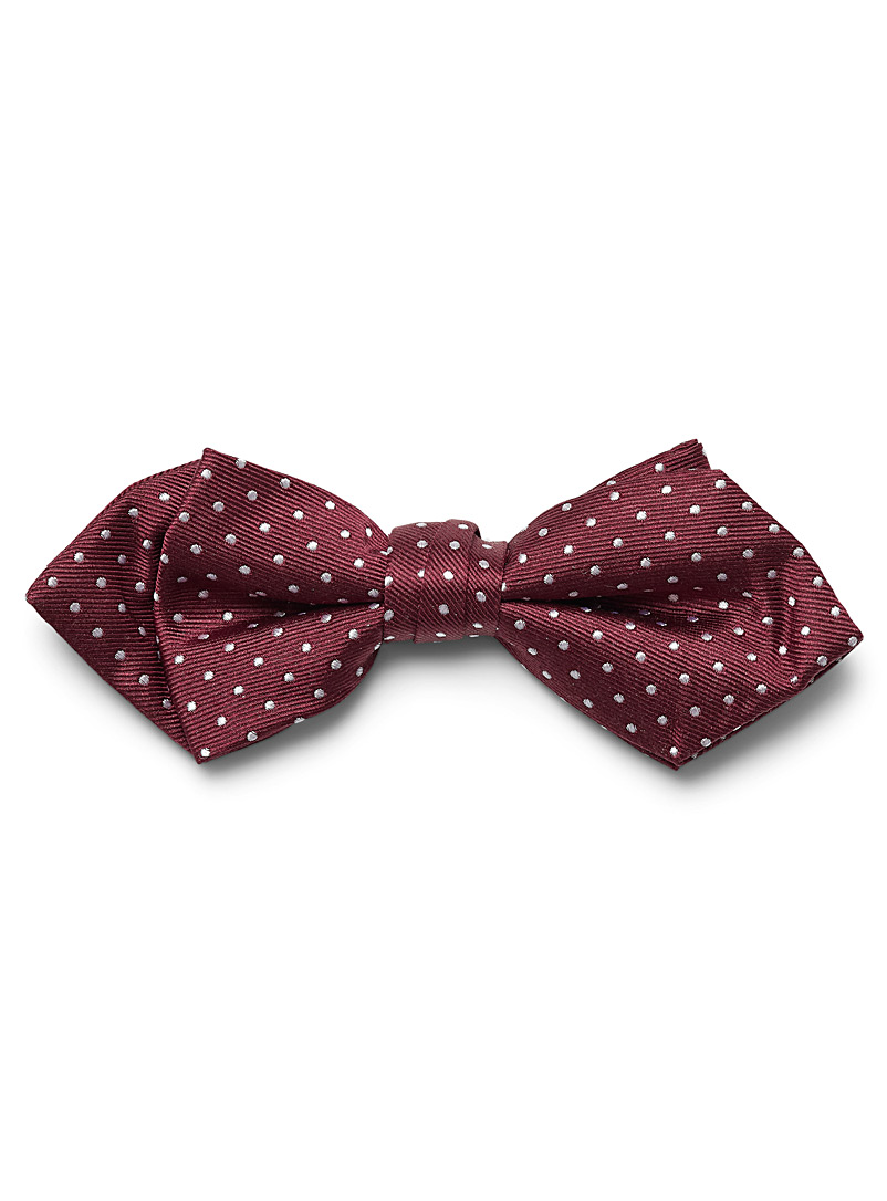 Satiny pin dot bow tie - Bow Ties - Ruby Red