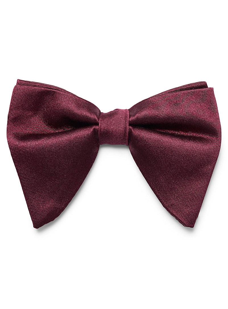 Le 31 Ruby Red Satiny retro bow tie for men
