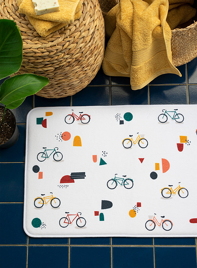 Simons Maison Assorted Bike ride bath mat  50 x 80 cm