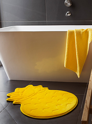 Pineapple memory foam bath mat  47 x 70 cm