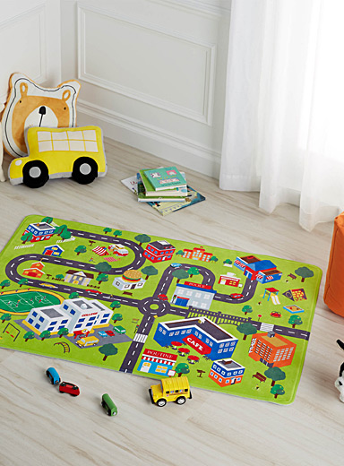 City children's decorative floor mat  80 x 120 cm