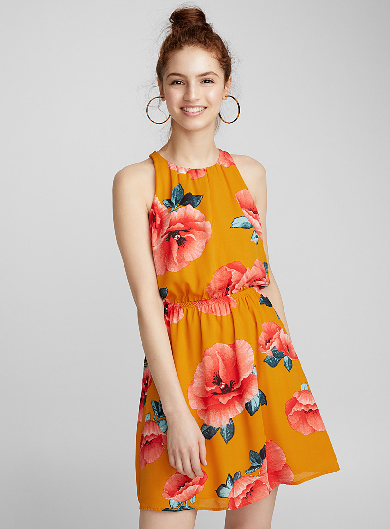 Printed waffle dress - Casual - Assorted