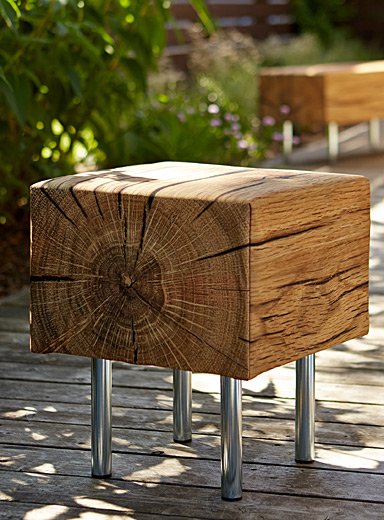 Faux-wood outdoor chair