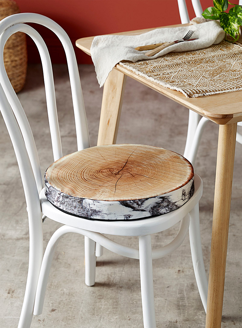 Birch-print chairpad  40 cm round - Seat Cushions - Assorted