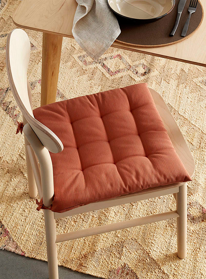Simons Maison Copper Solid quilted chairpad 40 x 40 cm