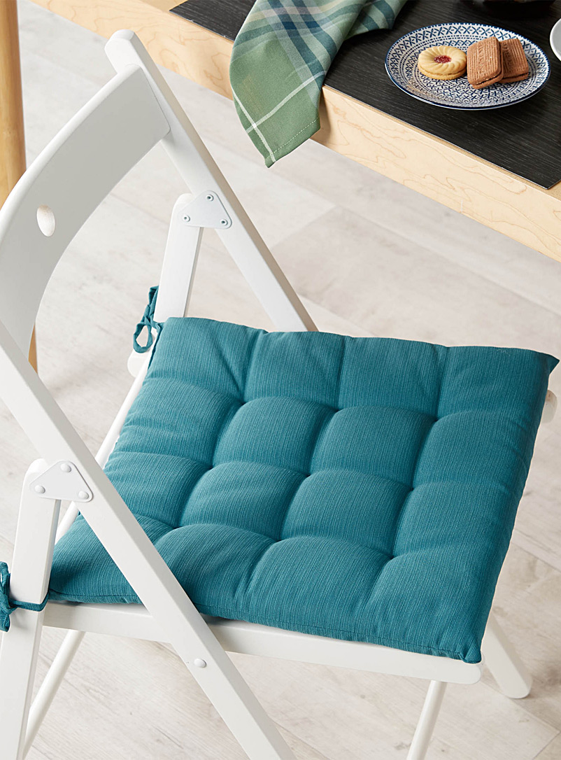 Solid quilted chairpad  38 x 38 cm - Table Accessories - Teal