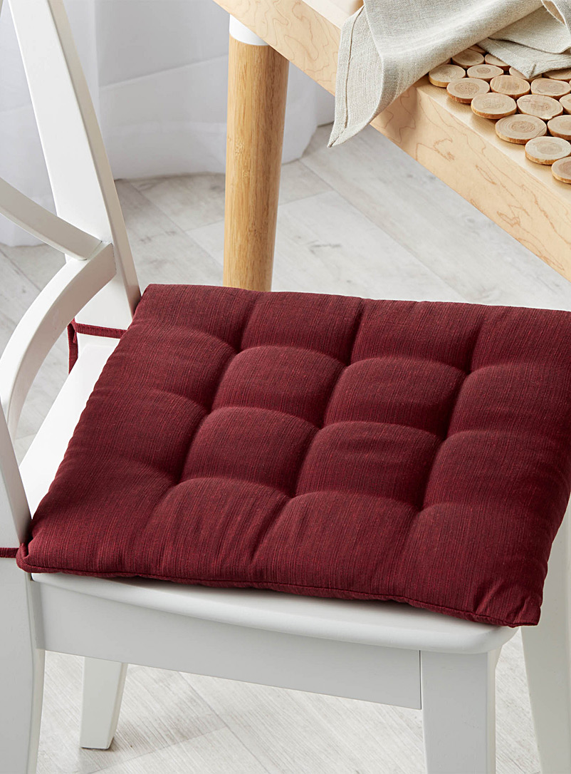 Solid quilted chairpad  38 x 38 cm - Seat Cushions - Bright Red