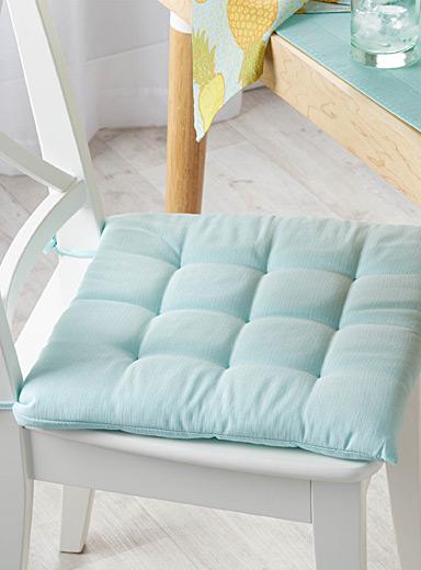 Pastel quilted chairpad  40 x 40 cm