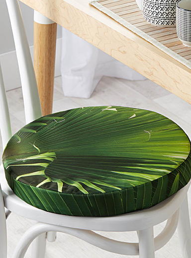 Tropical leaves chairpad  40 cm in diameter